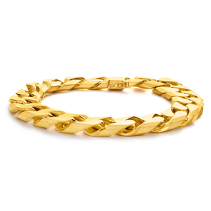 9ct Alluring Yellow Gold Curb Bracelet