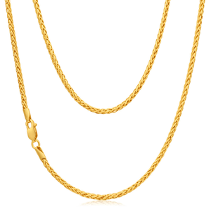 9ct Yellow Gold Wheat 45cm Chain 50 Gauge