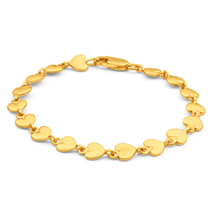9ct Charming Yellow Gold Fancy Bracelet