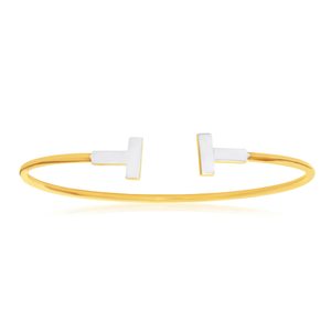 9ct Alluring Yellow Gold & White Gold Bangle