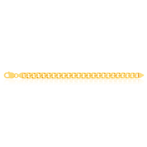 9ct Yellow Gold Delightful Curb Bracelet