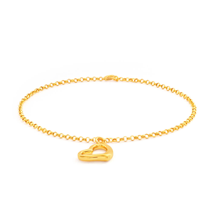 9ct Charming Yellow Gold Belcher Bracelet