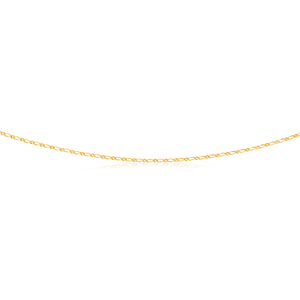 9ct Yellow Gold Firgaro 1:1 Dimond Cut 40 gauge 60cm Chain