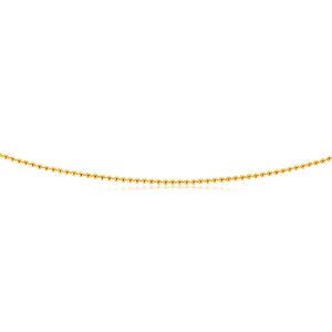 9ct Yellow Gold Beads 2mm in 55cm Chain