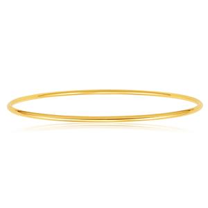 9ct Yellow Gold 2mm x 65mm Plain Bangle