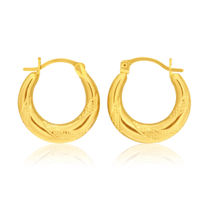 9ct Yellow Gold Sublime Creole