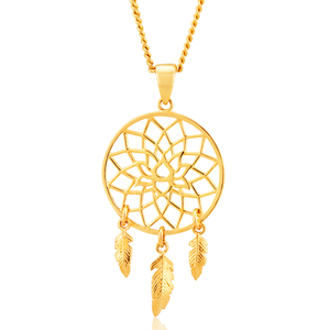 9ct Yellow Gold Fancy Dream Catcher Pendant