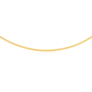 9ct Yellow Gold Flat Bevelled Curb 55cm Chain 120gauge
