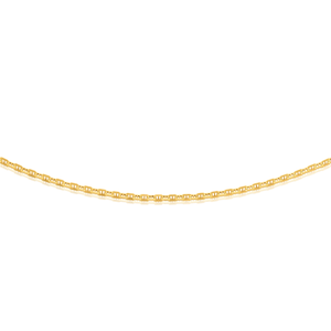 9ct Yellow Gold 19cm Dicut Anchor Bracelet