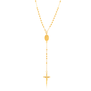 9ct Yellow Gold Rosary 40.60cm Chain