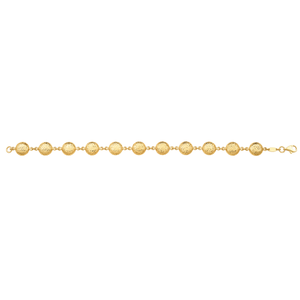 9ct Yellow Gold 18.5cm Bracelet with Dicut Balls