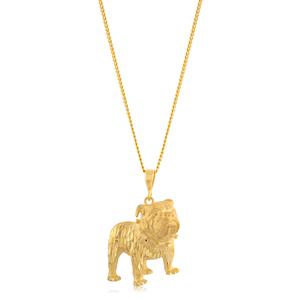 9ct Yellow Gold Dog Pendant
