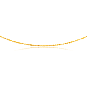 9ct Yellow Gold 45cm Rope Chain 50Gauge