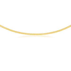 9ct Yellow Gold Curb Chain 45cm 90 Gauge