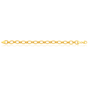 9ct Yellow Gold Oval Link 19cm Bracelet