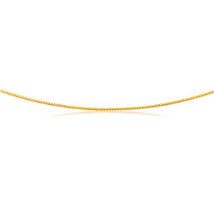9ct Yellow Gold 55cm Chain 60 Guage