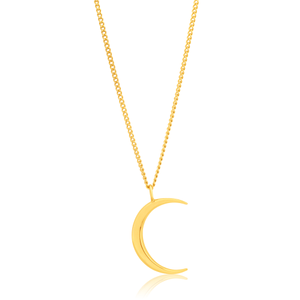 9ct Yellow Gold Crescent Moon Pendant 9y