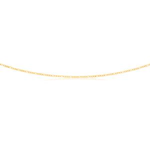 9ct Yellow Gold 3:1 Figaro 45cm Chain 40Gauge