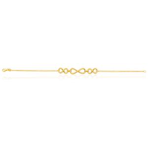 9ct Yellow Gold Triple Infinity 19cm Bracelet