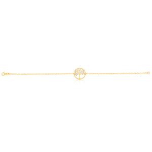 9ct Dicut 19cm Tree Of Life Bracelet
