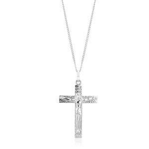 9ct White Gold Crucifix 4x2.5mm
