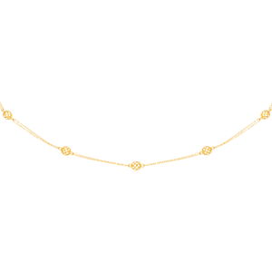 9ct Yellow Gold Swirl Ball 75cm Chain