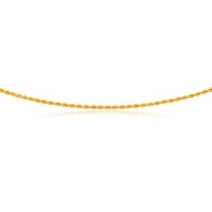 9ct Yellow Gold Rope 45cm Chain