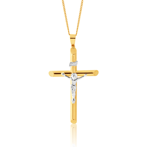 9ct Yellow Gold Cruxifix Pendant