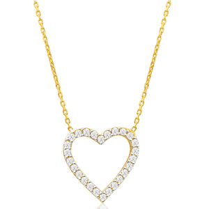 9ct Charming Yellow Gold Cubic Zirconia Chain