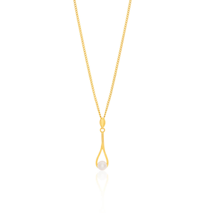9ct Yellow Gold Pearl Pendant