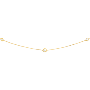 9ct Yellow Gold Mother of Pearl 80cm Fancy Chain