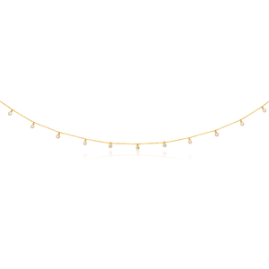 9ct Yellow Gold Chain with Cubic Zirconias