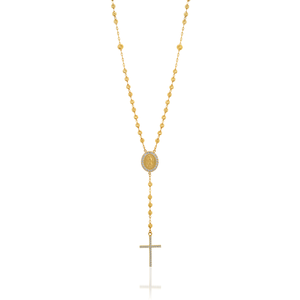 9ct Yellow Gold Rosary Beads with Zirconias