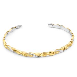 9ct Yellow Gold Silver Filled 19cm Sweet Fancy Bracelet