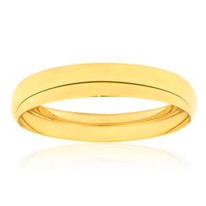 9ct Yellow Gold Silver Filled 12mm 65cm Bangle