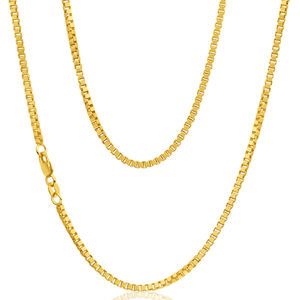 9ct Yellow Gold Silver Filled 50cm Box Chain