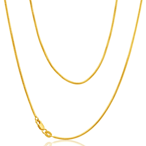 9ct Yellow Gold Silver Filled Snake 45cm Chain