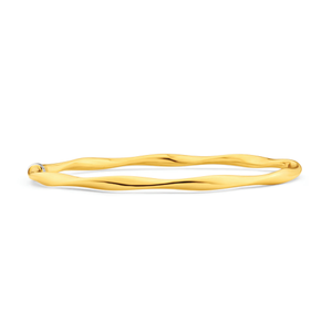 9ct Yellow Gold Dazzling Copper Filled Bangle