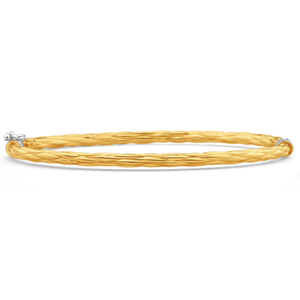 9ct Yellow Gold Silver Filled 60cm Bangle