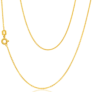 9ct Yellow Gold Silver Filled Trace 45cm Chain