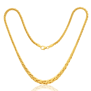 9ct Yellow Gold Silver Filled Wheat 45cm Chain