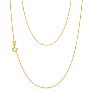 9ct Yellow Gold Silver Filled Trace 50cm Chain