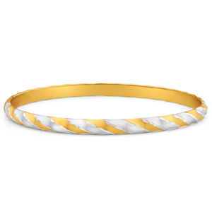 9ct Yellow Gold Silver Filled Golf Bangle