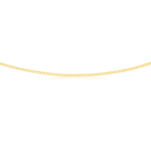 9ct Yellow Gold Silver Filled Anchor 50 Gauge Chain in 50cm