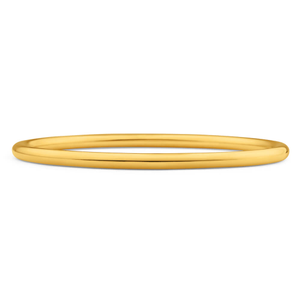 9ct Gold Silver Filled 65mm Bangle Yellow 4mm Thick