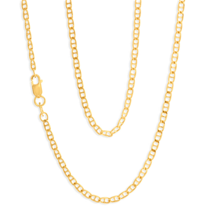 9ct Elegant Yellow Gold Silver Filled Anchor Chain