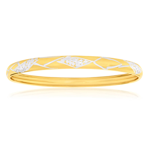 9ct Lovely Yellow Gold Silver Filled Bangle