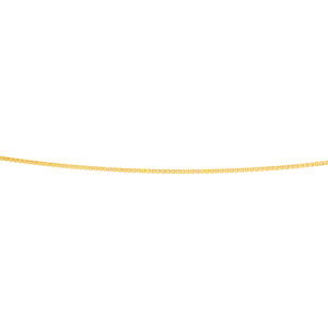 9ct Yellow Gold Silver Filled Box Link 45cm chain