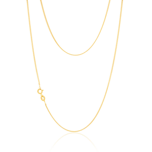 9ct Yellow Gold Silver Filled 55cm Elegant Curb Chain