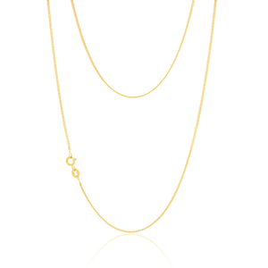 9ct Yellow Gold Silver Filled 70cm Curb Chain